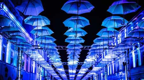 night white umbrella on ceiling umbrella