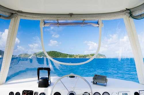 windshield yacht interior island