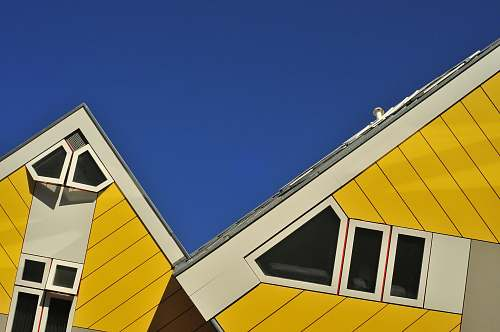 rotterdam yellow and white house roof netherlands