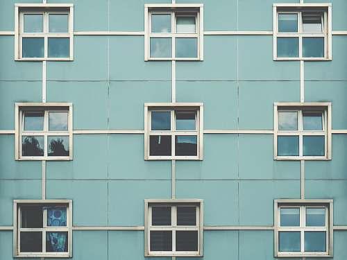 window photo of gray concrete building cologne