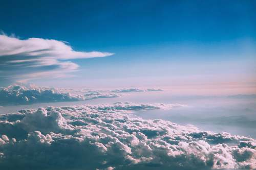 clouds top view of white clouds during daytime sky