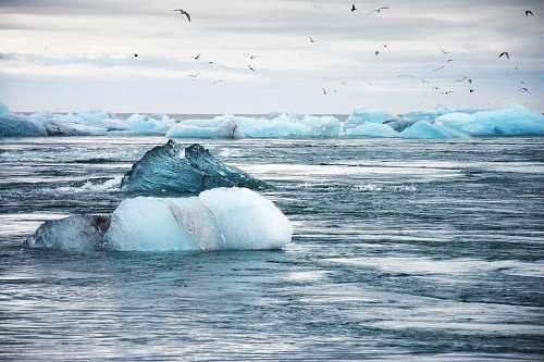 glacier iceberg on water iceland