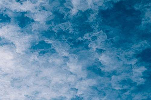 outdoors blue and white clouds sky