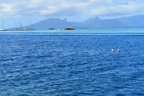 outdoors boats in sea under blue sky land