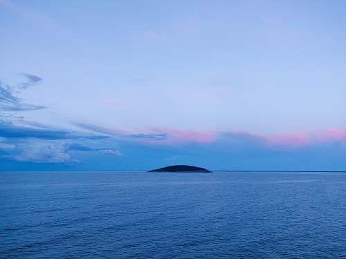 outdoors calm ocean land