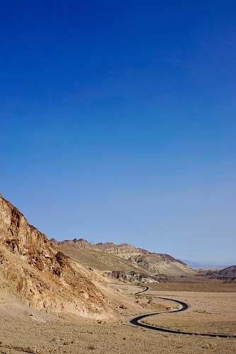 blue desert outdoors