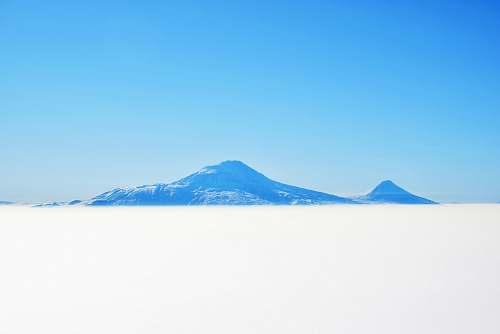 outdoors white mountain mountain