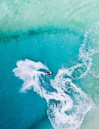 sea bird's eye view of personal watercraft water