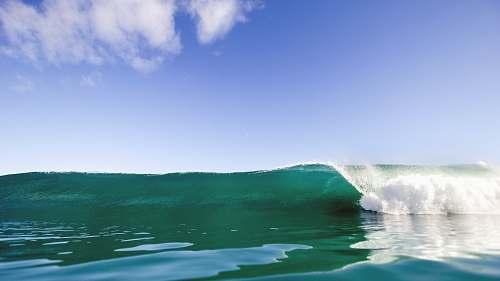 blue barrel wave water