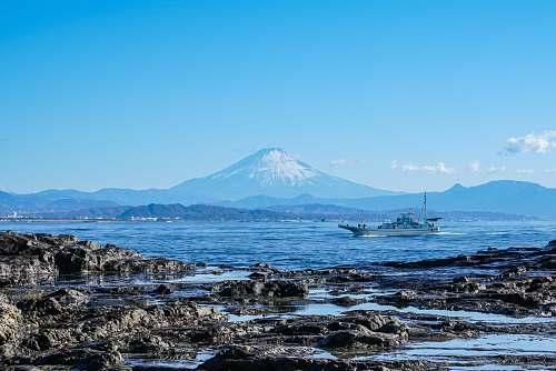 nature boat sailing\ mountain