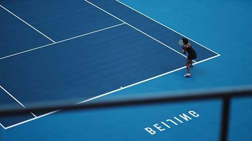 human woman playing tennis sport