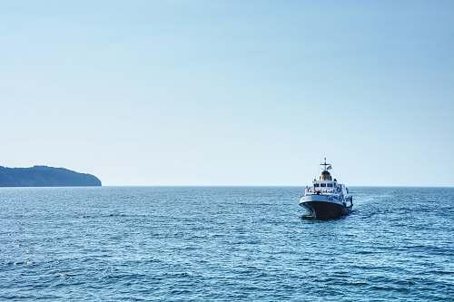 vehicle white boat boat