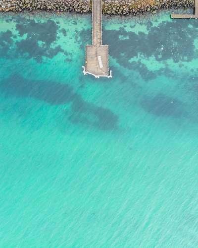 sea aerial beach boardwalk ocean
