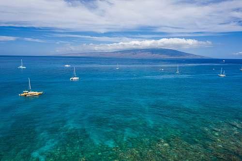 ocean blue body of water sea