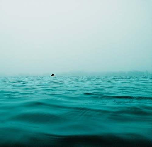 ocean closeup photo of calm body of water horizon