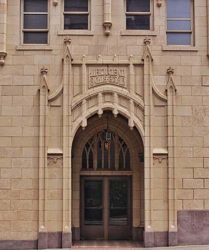 door Medical Arts Bldg. entrance arched