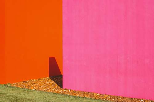 wall pink painted wall near orange painted wall home decor