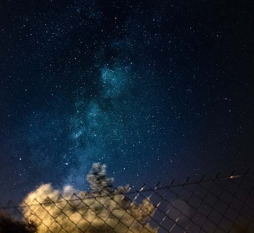 space blue sky with stars night