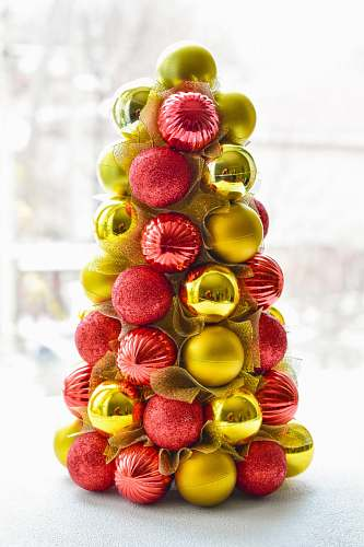 sweets yellow and red baubles decor food