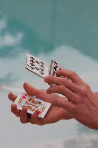 az person shuffling cards usa