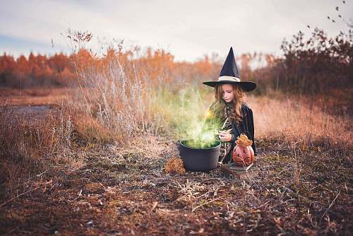 person girl in witch costume people