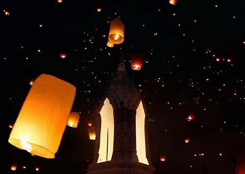 lamp sky lanterns on air thailand