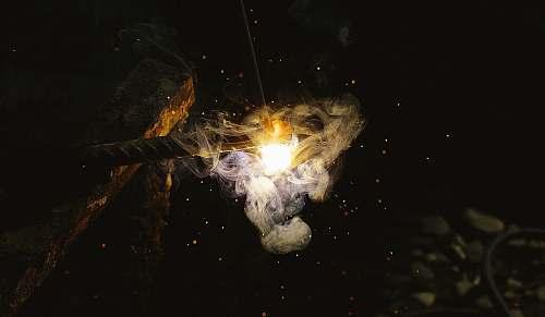 spark fire on ground rod