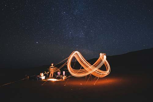 stars timelapse photography of steel wool fire dancing at night oman