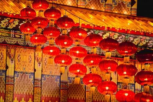 lamp red paper lanterns lantern