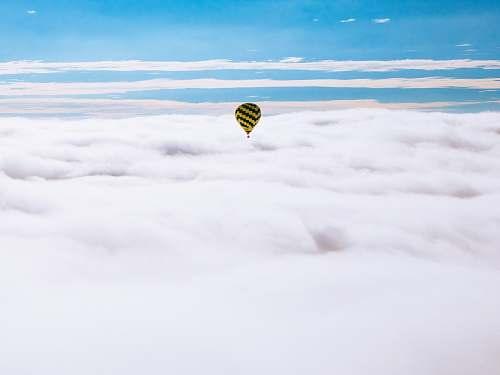 teotihuacan yellow hot air balloon blue