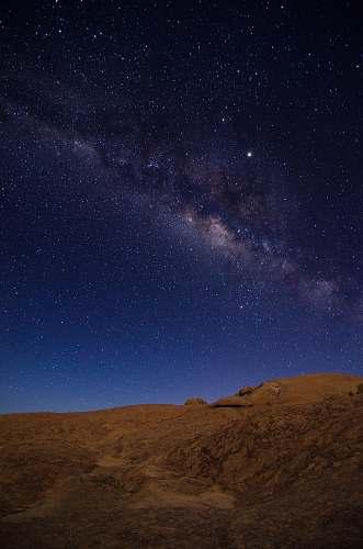 outdoors black galaxy sky night
