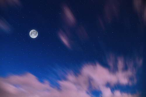 outdoors full moon in blue sky during dawn blue