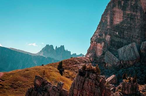 mountain mountain landscape during daytime canyon
