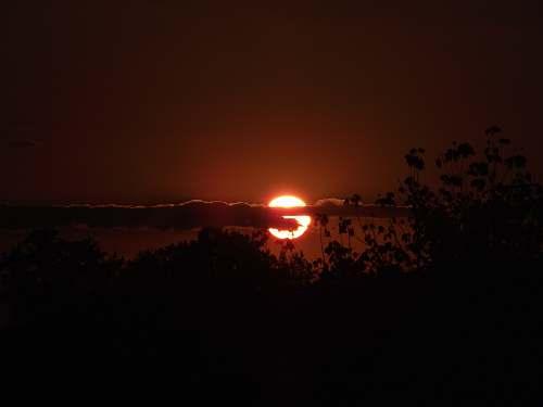 outdoors sunset photograph during nighttime light