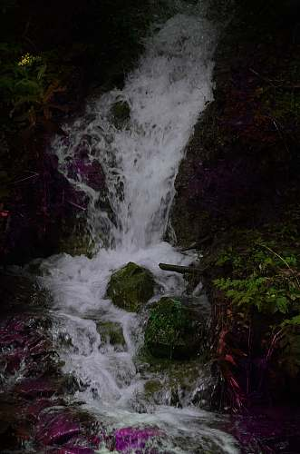 outdoors waterfall in timelapse photo water