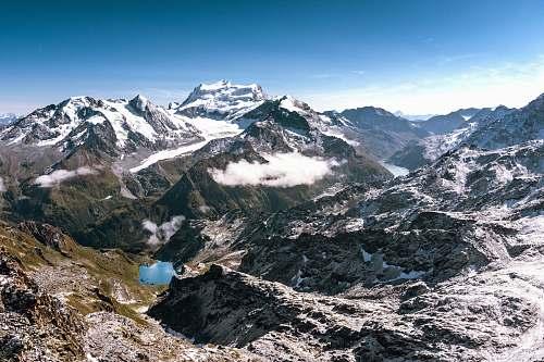 outdoors white and green mountains mountain