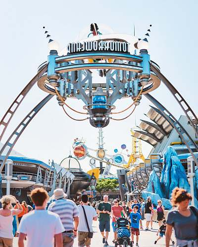 human people on Tomorroweland amusement park