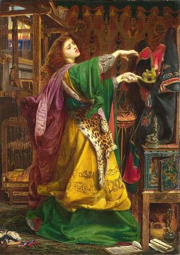 art woman wearing green and yellow dress painting art movement