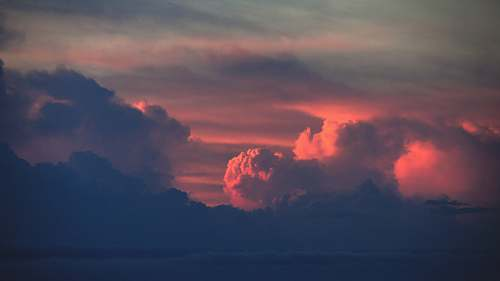 cloud sea of clouds during golden hour nature