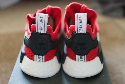 clothing red-and-black 3 Stripes running shoes with box sneaker