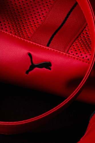 clothing red Puma leather bag footwear