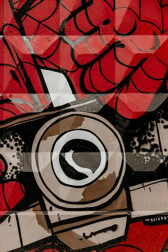 mural red, brown, and black abstract wallpaper graffiti