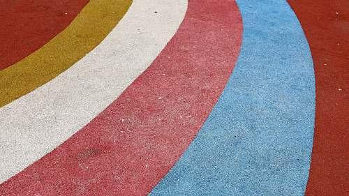 tarmac multicolored striped rug road