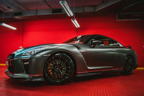 car grey Nissan GT-R coupe transportation