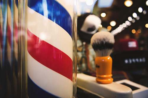san luis obispo white, red, and blue barber spiraling bar united states