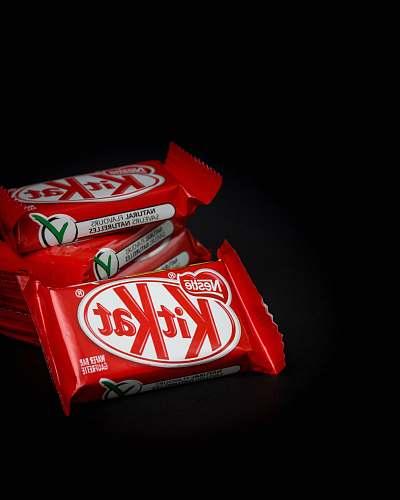 drink stack of Kitkat snacks coke