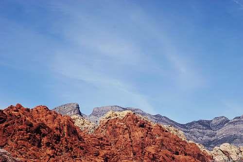 mountain brown and beige mountain range desert