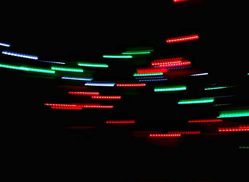 green timelapse photo of lights lights