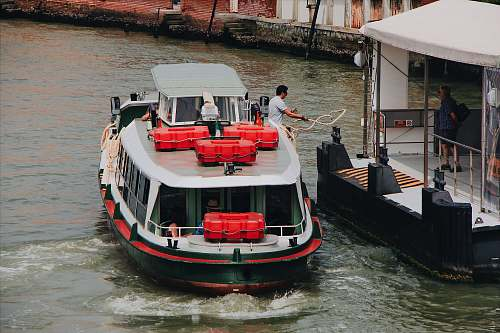 transportation white and red boat vehicle