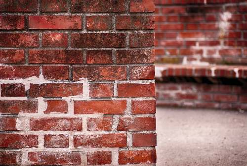 background brown brick wall corner